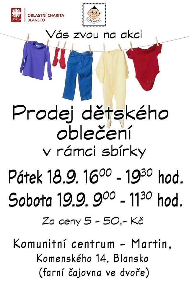 Pozvánka – prodej dětského oblečení  2c1ee1db0c