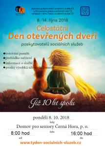 Den otevřených dveří říjen 2018
